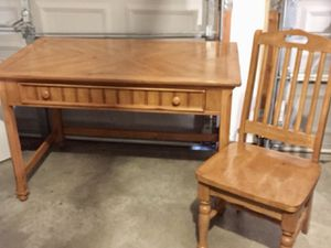 Wooden office desk and chair for Sale in Brentwood, TN
