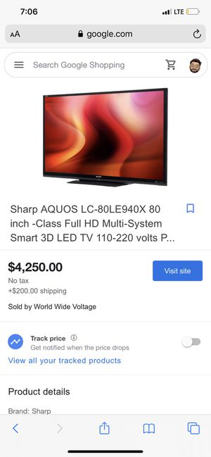 Sharp aquos 80 inch with Bose sound bar for Sale in North Las Vegas, NV