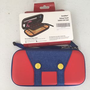 Nintendo Switch Lite Mario Case Red And Blue & Screen Protector New for Sale in Silver Spring, MD