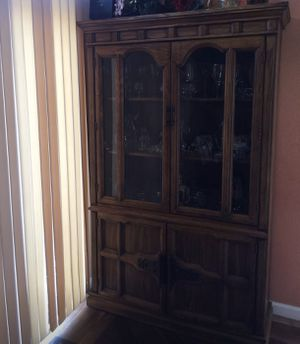 Antique Wood & Glass Showcase & Cabinet for Sale in Denver, CO