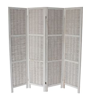 4 Panel Room Divider, White, 7046WH for Sale in Santa Fe Springs, CA
