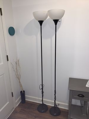 2 floor lamps. $10 for both for Sale in Carrboro, NC