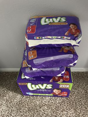 LUVS DIAPERS for Sale in Dallas, TX