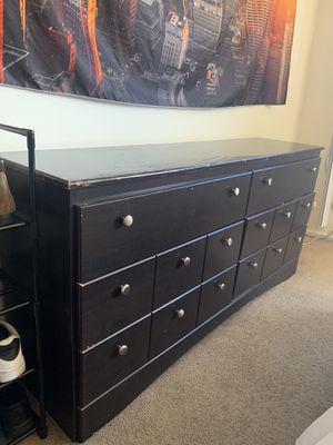 6 drawer dresser / dark brown wood for Sale in Los Angeles, CA