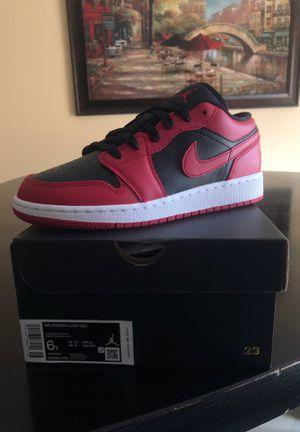 "Jordan 1 Low ""Bred"" GS sz. 5.5 & 6 for Sale in Miami, FL"