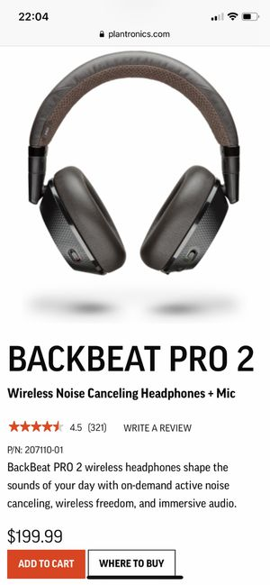 Plantronics Backbeat Pro 2 Headphones for Sale in Cleveland, OH