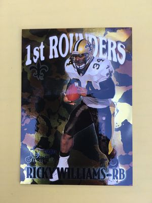RICKY WILLIAMS R.C • 1999 FLEER SHOWCASE 1st ROUNDERS GOLD FOIL#8 for Sale in Villa Park, CA