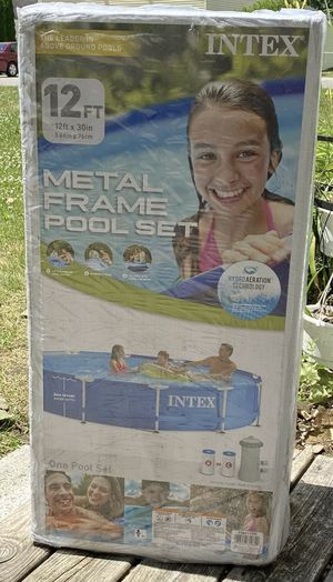 INTEX 12 x 30 metal frame with filter pool for Sale in Arlington, VA
