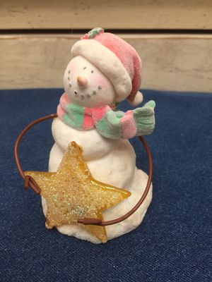 """Russ """"Snowy Days"""" collectable Christmas snowman statue reduced to $5 Mesa Higley and US 60 for Sale in Mesa, AZ"""
