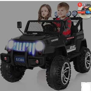 2 kids new electric ride on jeep car with bluetooth & remote control $ 250 or best offer for Sale in Houston, TX