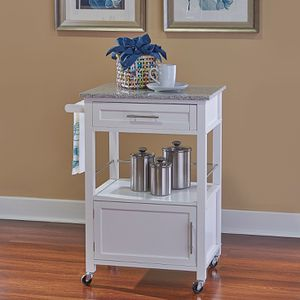 Linon Mitchell Kitchen Cart with Granite Top, 36 inches High DESCRIPTION: Perfect for adding extra storage and work space Spacious drawer, cabinet are for Sale in Sugar Land, TX