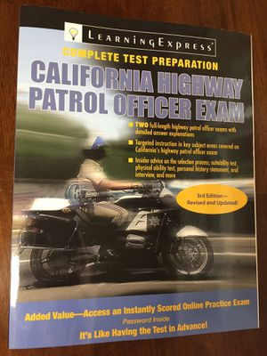 California Highway Patrol Officer Exam complete test preparation book for Sale in Fontana, CA