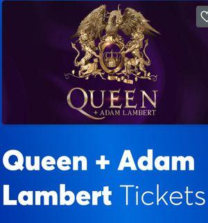 Queen + Adam Lambert - 2 tickets, Saturday, July 20, 2019 for Sale in Costa Mesa, CA