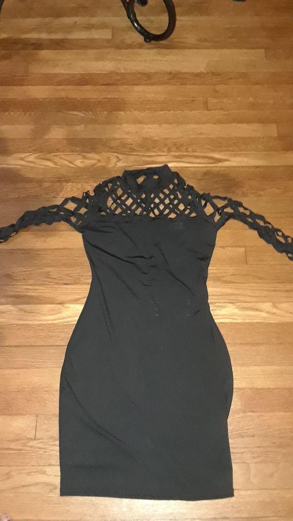 Black dress top net