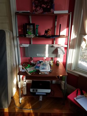 Computer tower, CD racks, keyboard rack for Sale in Winthrop, MA