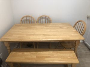 Wooden rectangle kitchen table for Sale in San Diego, CA