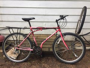 "26"" Folding bicycle bike road trail mountain 18 speed like Shimano Schwinn GT redline mongoose Cannondale specialize track for Sale in Kent, WA"
