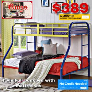 Twin full bunk bed with mattress for Sale in Tulare, CA