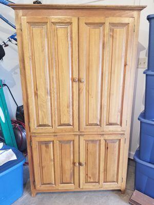 Solid Oak Corner Cabinet for Sale in Martinsburg, WV