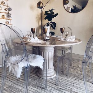 Stunning Marble Dining Table + Ghost Chairs for Sale in National City, CA