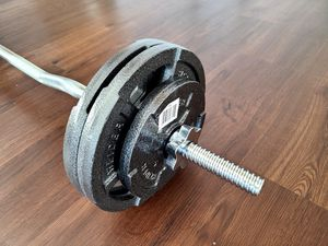 Curl bar with 50lbs weight set for Sale in Bothell, WA