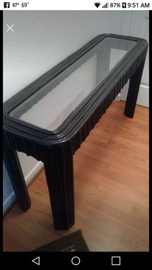 Bamboo Black and glass sofa table for Sale in Largo, FL