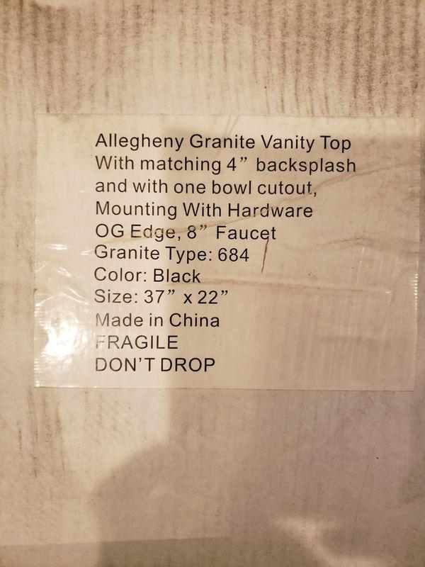 """37"""" Granite Vanity Top"""
