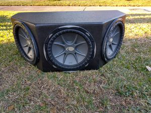 3 12s old school kicker cvx with probox box for Sale in Humble, TX