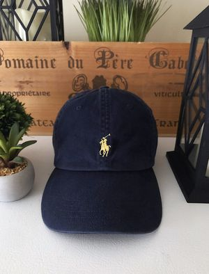 Men's Polo RL Core Classic Sport Cap retail $45 Like new! Zero signs of wear. Navy blue with leather strap and gold embroidered logo. Adjustable back for Sale in Washington, DC