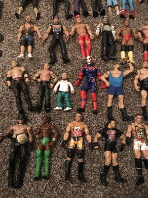 WWE, IMPACT WRESTLING, ECW action figures. Fair condition and great collectibles for Sale in Clermont, FL