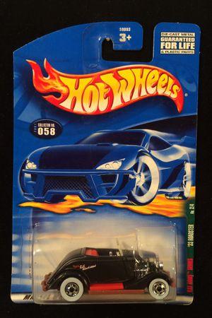 Hot Wheels Rat Rods Series '33 Roadster • Black • White Wall 5 Spokes for Sale in Keller, TX