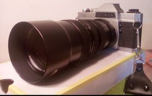 Vintage chinon film camera ext. Macro lens 200- MM. for Sale in Denver, CO