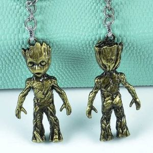 Guardians of the galaxy groot Green Gold metal keychain for Sale in Arlington, TX