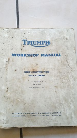 Triumph motorcycle workshop manual for Sale in Vernon, CA