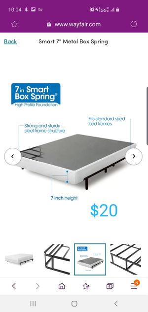 "New - zinus 7"" twin size smart box spring $20 for Sale in Lewis Center, OH"