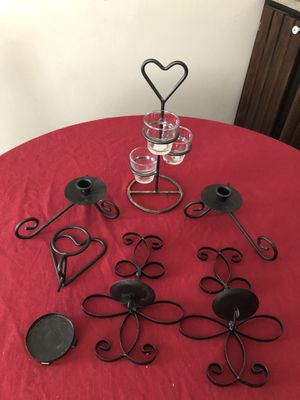 7 piece assorted black wrought iron decorations for Sale in Mechanicsburg, PA