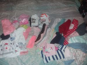 40 items Baby girl clothes 3-6 months trousers body suits dress sweater and more Ropa de bebe para nina 3 y 6 meses for Sale in Baldwin Park, CA