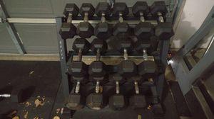 15 to 50 lb dumbbells, 3-tier rack for Sale in Elk Grove, CA