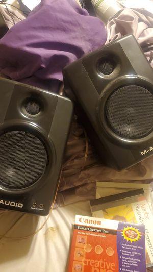 M-audio av 40 speakers good condition.. for Sale in Burbank, CA