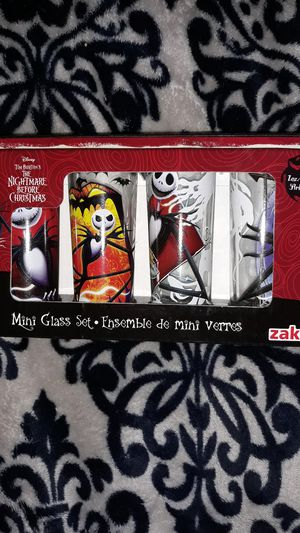 NWOT in box The Nightmare Before Christmas Mini Glass Set for Sale in Winston-Salem, NC