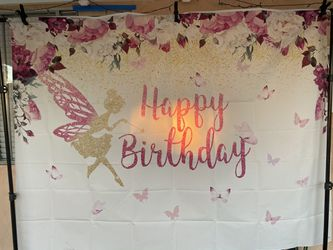 Fairy tinker bell birthday banner for Sale in Downey,  CA