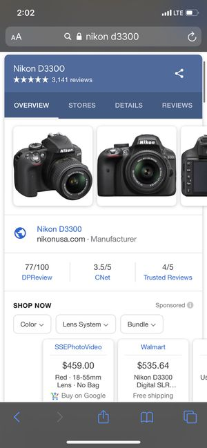 Nikon D3300 for Sale in Fairfield, CA