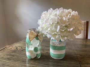 Two mason jar decoration for Sale in Lincoln Park, NJ