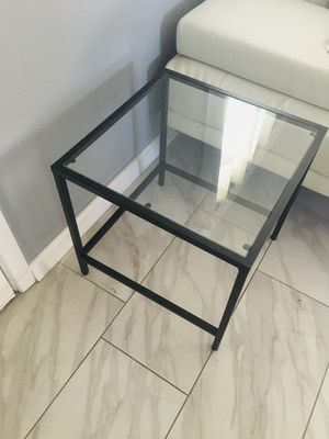 Glass end table for Sale in Montclair, CA