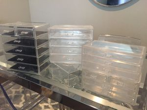 Acrylic makeup storage boxes for Sale in Pflugerville, TX