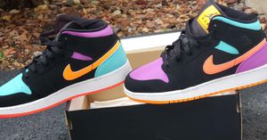 Brand New Air Jordan 1 Mid Mutil-Color Size 7y (youth) for Sale in Aurora, IL