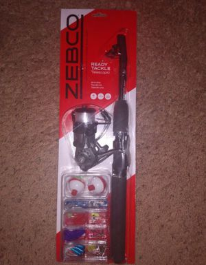 "Zebco ""ready tackle"" fishing rod combo for Sale in Liverpool, NY"