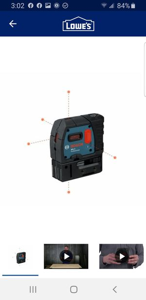 Bosch 100-ft Self-Leveling Line Generator Beam Laser Level with Plumb Points for Sale in Elk Grove, CA