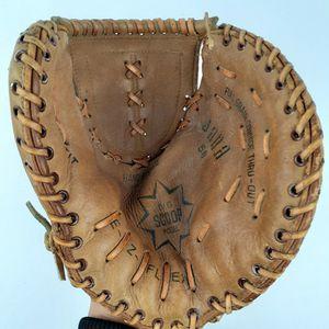 Jana Catchers Glove Baseball Mitt EZ Flex Big Scoop Model Leather Nylon Stiched Japan for Sale in Portland, OR
