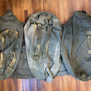 3 US ARMY Drab Green Canvas Duffle Bag - Backpack for Sale in Sacramento, CA